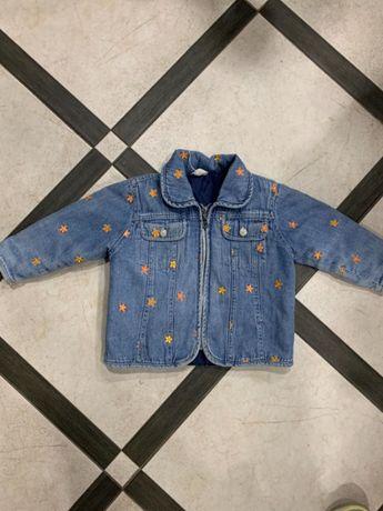 Куртка джинсова утеплена 2-3 роки