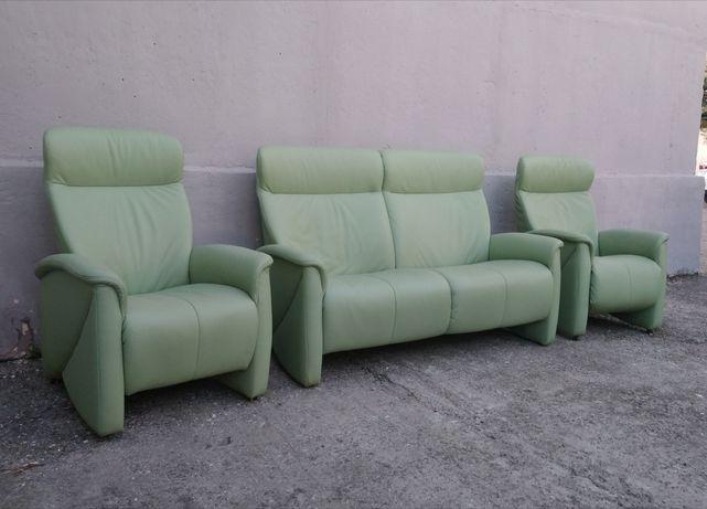 Кожаный Диван и Два Кресла, HIMOLLA Мягкая мебель, Кожаная мебель.