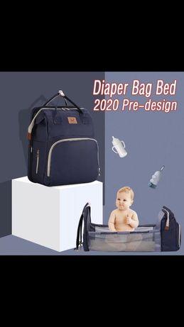 Рюкзак, сумка для мам, мини-кроватка