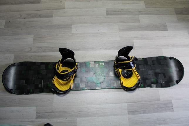 Deska Snowboard BURTON PROCESS FLYING V 157 cm + Wiązania BURTON