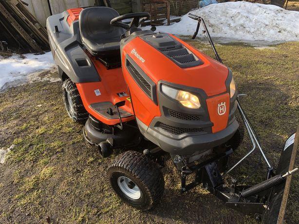 Kosiarka Traktorek Husqvarna CTH164T +plug i lancu Partner Mcculloch
