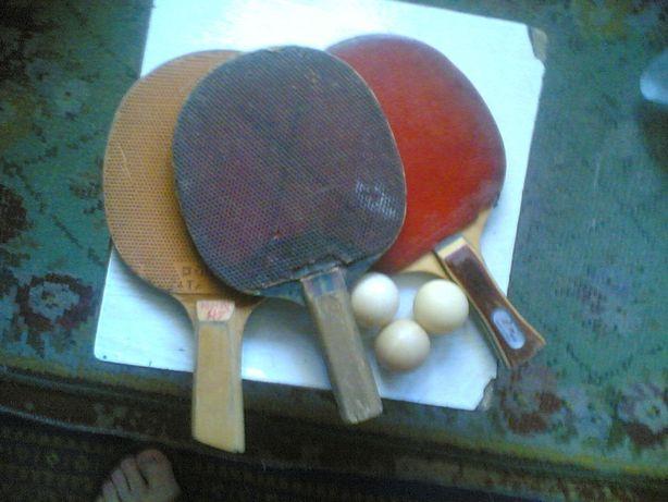 Продам ракетки для настольного тениса 3 штуки