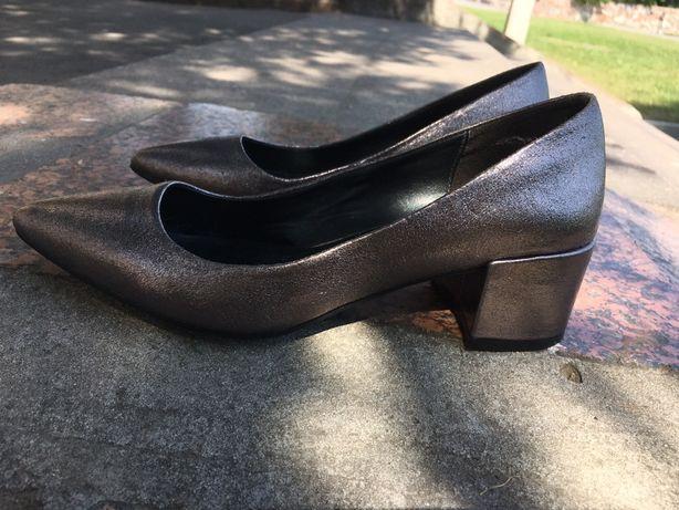 Кожанные туфли лодочки M&S