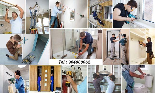 Montagem móveis, aparelhos ou qualquer equipamentos!