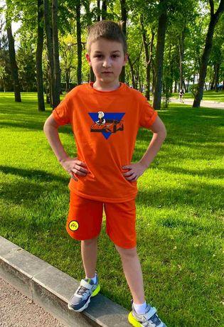 Летний костюм мерч Влад А4 ламба гелик А4 пончик футболка шорты