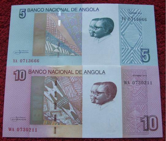 ANGOLA Kolekcjonerskie Banknoty Zestaw - 2 sztuki UNC