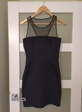 Piękna elegancka mała czarna sukienka z siateczką H&M - r. 36 okazja