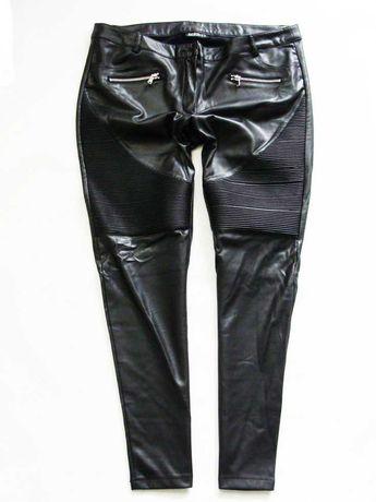 Janina sexy skórzane spodnie rurki eco skóra 44/46
