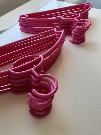 18 cabides cor de rosa