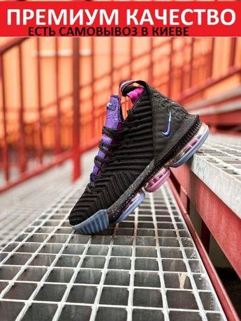 Кроссовки Nike Lebron 16 Black/Purple баскетбольные