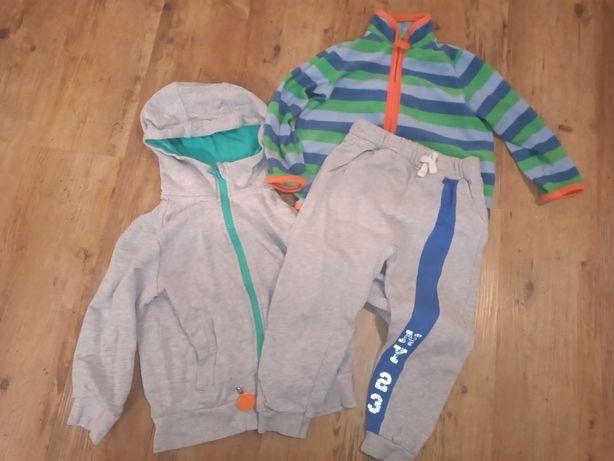 Bluza little kids + polar chibo + spodnie dresowe zara