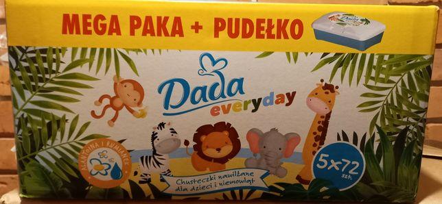 Chusteczki nawilżane Dada 5x72szt + pudełko Nowe