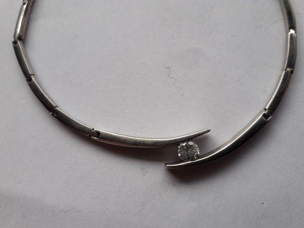 srebrny naszyjnik proba 925 o188