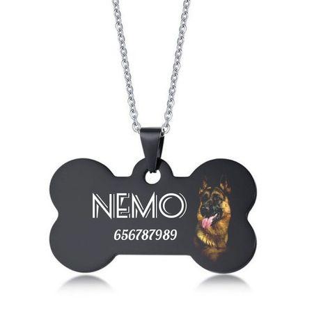 Identyfikator tag adresowka dla psa czarna owczarek doberman rasy psów