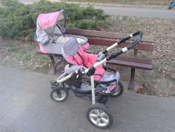 Wózek 3w1 Treeco Emjot - gondola + spacerówka + fotelik Stan bdb!