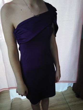 Fioletowa sukienka wieczorowa