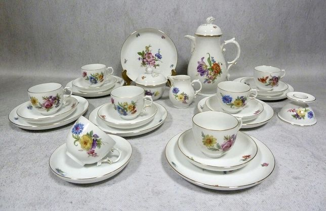 FURSTENBERG kwiaty model Miśna serwis kawowy 7 os