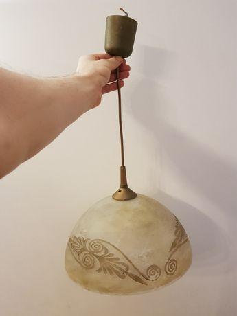 Lampa 30 cm szklana z żarówką led 10W