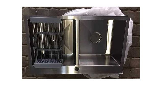 Кухонная Мойка Handmade из нержавеющей стали 3мм,  78/48см, 2 чаши