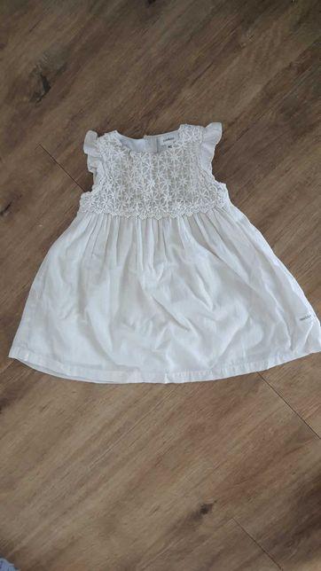Urocza kremowa biala sukienka zlota nitka Newbie 80