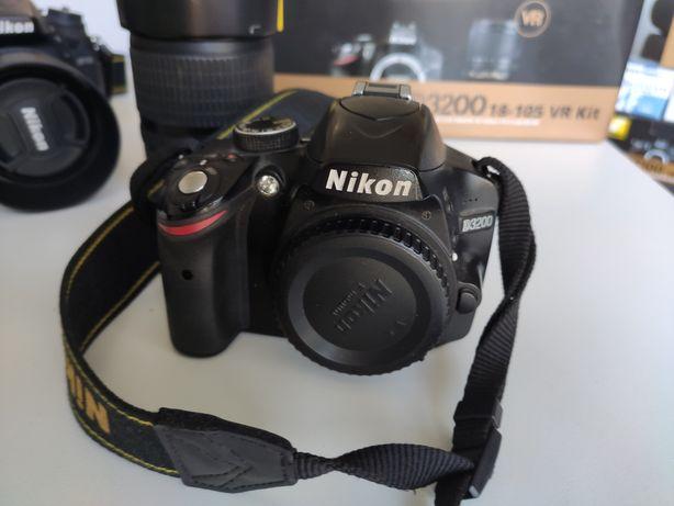 aparat Nikon D3200 + obiektyw Nikon 18-105
