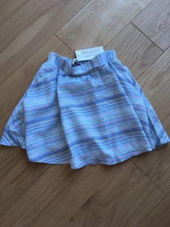Nowa kolorowa pastelowa spódniczka rozkloszowana kieszenie XS