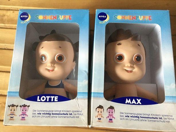 2x Nivea Sun lalka edukacyjna Lotte i Max NOWE Okazja