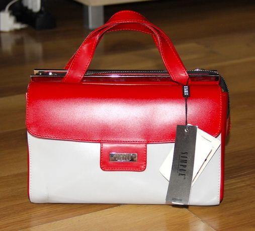 SIMPLE torebka czerwony czarny skóra coccinelle baldinini furla liu jo
