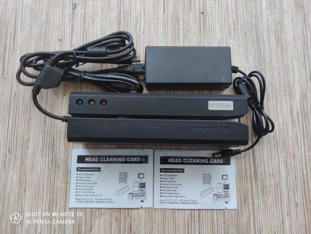 Энкодер (картридер) пластиковых магнитных карт MSR206