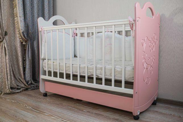 Детская кровать кроватка Hello Kitty