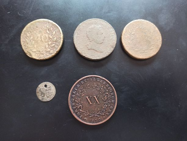 Lote de moedas antigas portuguesas