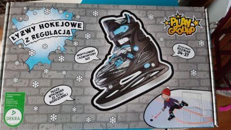Sprzedam nowe hokejowe łyżwy dla dziecka regulowane rozm. 34-37