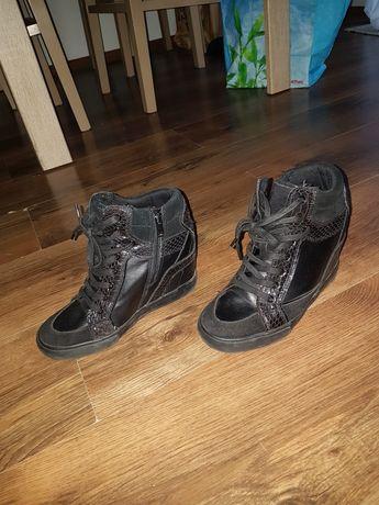Sneackersy czarne Aldo 38