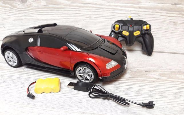 Машинка трансформер Бугатти с пультом Р/У Bugatti Veyron Red