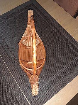 koszyk, kosz, koszyczek łódka nowy wiklina