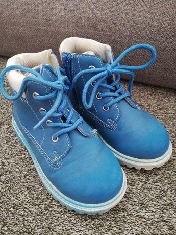 Buty trzewiki, trapery niebieskie 24 deichmann