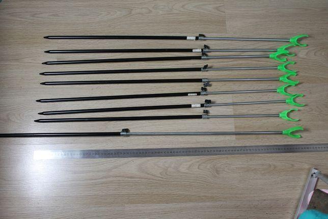 Подставка для удочки телескопическая 1.2 м комплект 9 шт.
