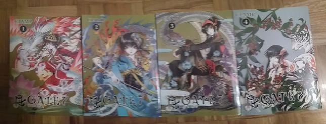 Manga Gate 7 Vol. 1 -4, das CLAMP, em Inglês, portes gratis