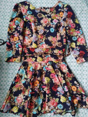 Женское платье, Платье женское в цветы