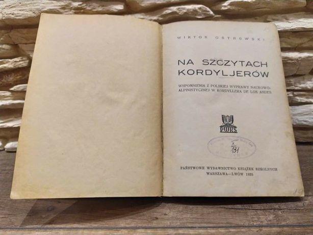 Na szczytach Kordylierów - Wiktor Ostrowski 1935 r.