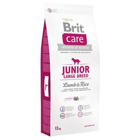Brit Care Junior Large Breed - karma dla psa/ Jagnięcina z ryżem 12KG