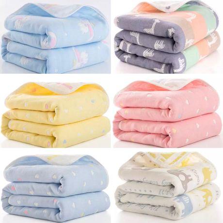 Плед муслиновый разные одеяло на крестины выписку конверт муслин пелен