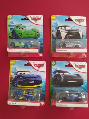 Auta 3 Cars 3 Mattel nowe oryginalne Jackson Carla Dan Harvey
