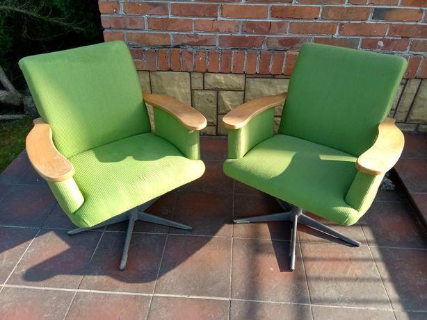 Fotele obrotowe vintage PRL
