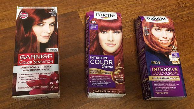 Farba do włosów Garnier 4.60 / Palette RI5 i KI7 zamienię