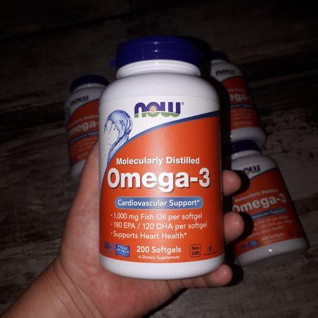 Рыбий жир Now Омега 3 , витамин Д3 now