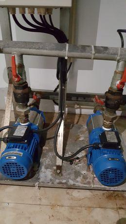 Motor e bombas de agua