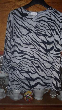Elegancka bluzka rękaw 3/4 jak NOWA XL/XXL