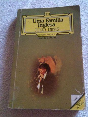 Uma Família Inglesa de Júlio Dinis, livro antigo dos anos 60
