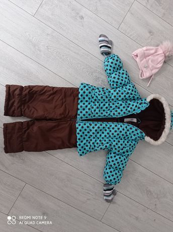 Kombinezon komplet zimowy 12-18 m-cy spodnie zimowe